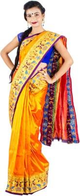 Vividha Plain Paithani Art Silk Sari