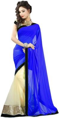 TryDeals Self Design Bollywood Chiffon Sari