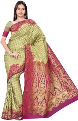 Kuberan Floral Print Daily Wear Art Silk Sari