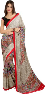 Velli Printed Fashion Crepe Sari