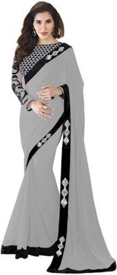 Blue Bird Impex Plain Bollywood Georgette Sari