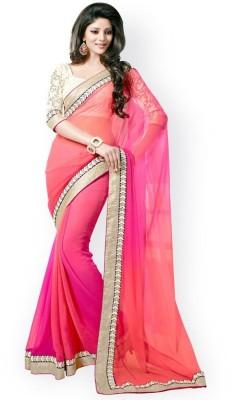 Darshanethnics Self Design Fashion Handloom Georgette Sari