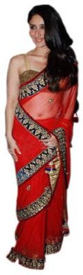 Maxusfashion Embriodered Bollywood Net Sari