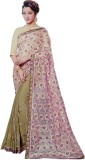 Awadh Embroidered Fashion Georgette Sare...