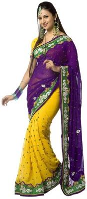 Texclusive Self Design Fashion Georgette Sari
