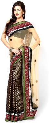 EthnicPark Self Design Fashion Net Sari