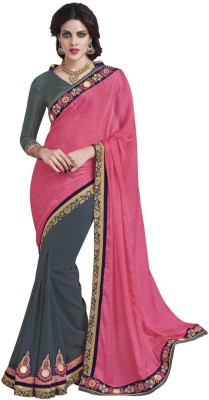 DesiButik Embellished Fashion Crepe, Georgette Sari
