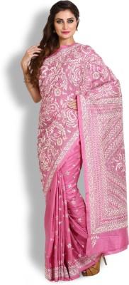 Kasturi-B Swadeshi Karigari Embriodered Kantha Handloom Pure Silk Sari