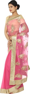 Kajal New Collection Embriodered Fashion Net Sari