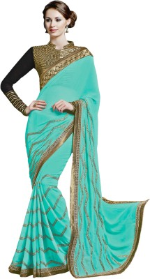 Jinaam Dress Embriodered Fashion Crepe Sari