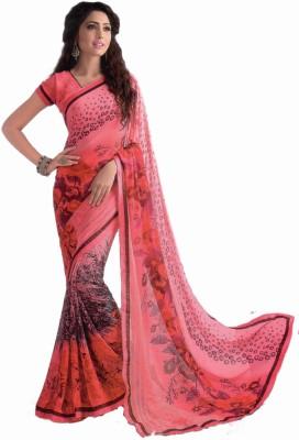 Shilpkar Floral Print Bollywood Synthetic Sari