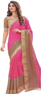 BEAUVILLE VAIIBAVAM Embellished Fashion Synthetic Chiffon Sari