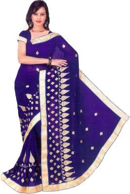 Aburadha Saree Embriodered Fashion Pure Chiffon Sari