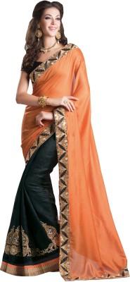 Urjita Creations Embriodered Fashion Jute Sari