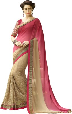 Anwesha Sarees Embriodered Fashion Net Sari