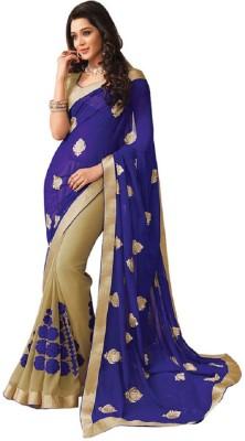 Vishal99 Solid Daily Wear Chiffon Sari