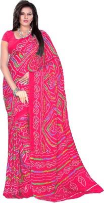 Aaradhya Fashion Self Design Bandhej Georgette Sari