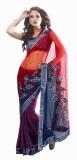 Triveni Self Design Fashion Net Saree (R...