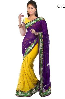 Aradhya Selling Store Embriodered Fashion Chiffon Sari