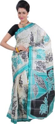 Raj Creative Printed Ikkat Handloom Art Silk Sari