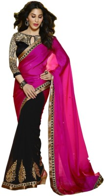 Fab Exclusive Embriodered Daily Wear Pure Georgette Sari