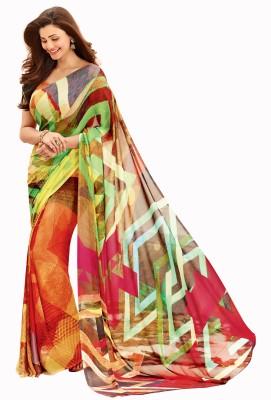 Vastrangsarees Graphic Print Fashion Art Silk Sari