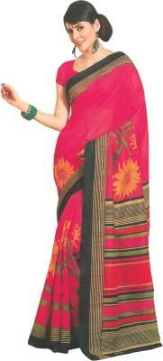 Fashion Floral Print Fashion Art Silk Sari