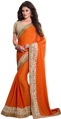 PAHAL FASHION Embriodered Fashion Chiffon Sari