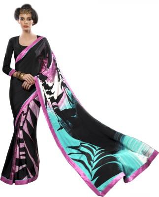 Nanda Silk Mills Printed Fashion Silk, Crepe Sari