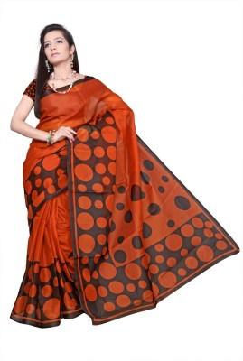 Chaand Sarees Polka Print Bollywood Cotton Sari