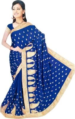 Arohee Embriodered, Embellished Fashion Georgette Sari