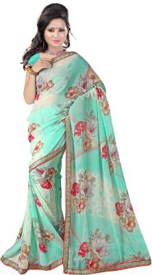 G3 Fashions Printed Daily Wear Handloom Georgette Sari