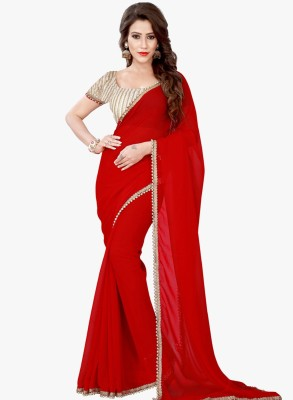 Festive Self Design Fashion Georgette Sari