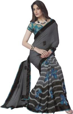 Vivacity Plain Bollywood Pure Georgette Sari