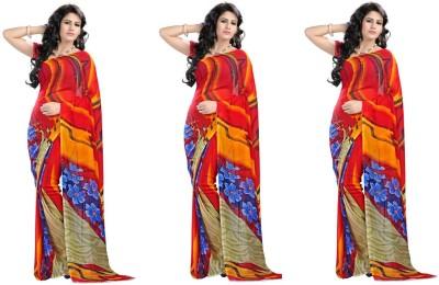 Stylobby Printed Daily Wear Handloom Georgette Sari