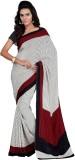 Goodfeel Polka Print Fashion Crepe Sari