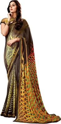 Stay Blessed Printed Fashion Georgette Sari