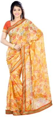 Sai Fabrics Floral Print Fashion Chiffon Sari
