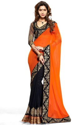 Fabulous Self Design Fashion Georgette Sari