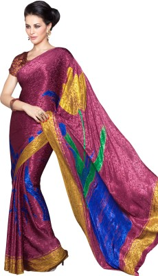 Lovely Look Printed Daily Wear Jacquard Sari
