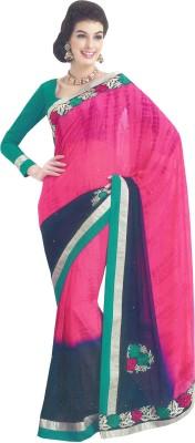 Aanaya Fashions Graphic Print Bollywood Chiffon Sari
