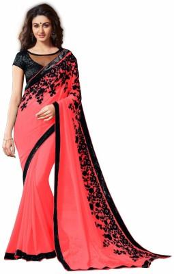 A3 Fashion Embriodered Fashion Chiffon Sari
