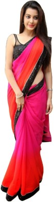 Hari Krishna Sarees Self Design Bollywood Chiffon Sari