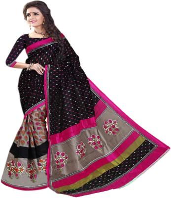 Sonakshi Sarees Striped Bhagalpuri Art Silk Sari