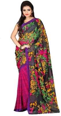 TirupatiBalaji Printed Daily Wear Chiffon Sari