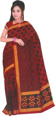 Dhammanagi Chevron Daily Wear Cotton Sari