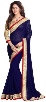 BlueGene Self Design Bollywood Chiffon Sari