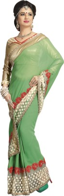 Shop Plaza Embriodered Daily Wear Georgette Sari