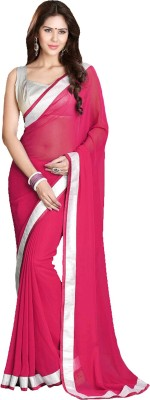 Ridhi Sidhi Plain Fashion Georgette Sari