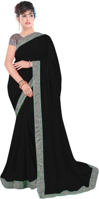 Shree Parmeshwari Self Design Fashion Georgette Sari